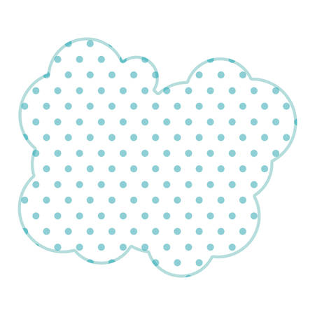 parley: Dotted silhouette cloud callout with cumulus vector illustration