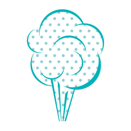 parley: Dotted silhouette cloud explosive callout vector illustration