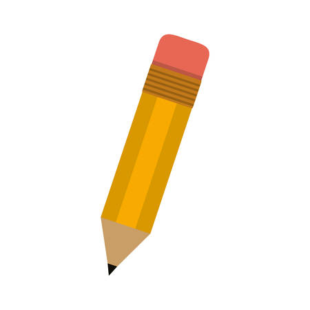 eraser: little school pencil with eraser vector illustration