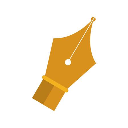 felt tip: golden tip pen to write vector illustration