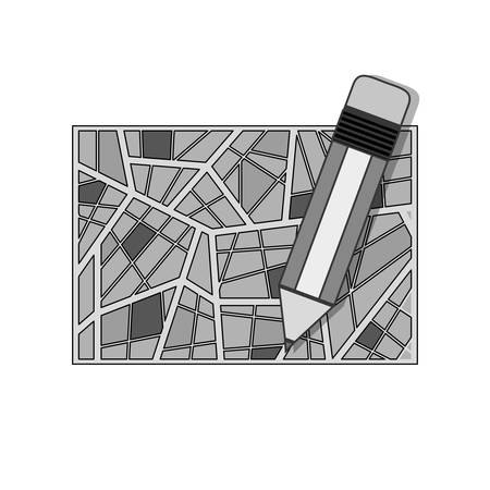 map pencil: silhouette map abstract background with pencil vector illustration Illustration