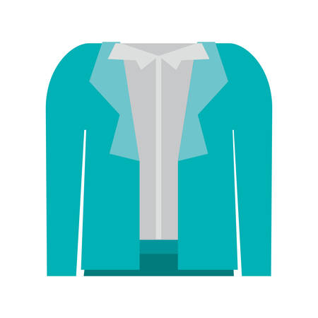 white blouse: blue skirt and white blouse with jacket. executive women clothes design. vector illustration Illustration