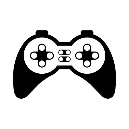 dvd: game control with navigation buttons. video game entertainment device . vector illustration
