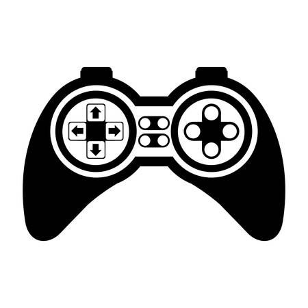 navigation buttons: game control with navigation buttons. video game entertainment device . vector illustration