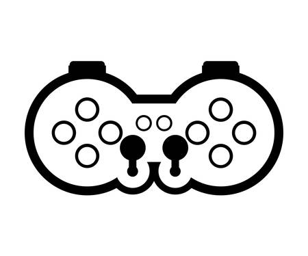 pushbuttons: game control with navigation buttons. video game entertainment device . vector illustration