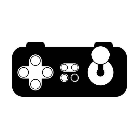 joy pad: game control with navigation buttons. video game entertainment device . vector illustration