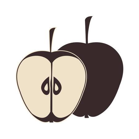 market gardening: apple fruit healthy food over white background. vector illustration
