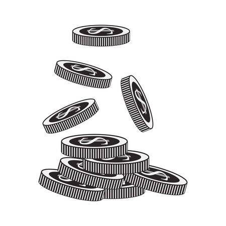 financial item: money coins icon. financial item. over white background. vector illustration