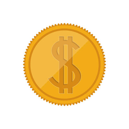 financial item: money gold coin icon.  economy and financial item. vector illustration