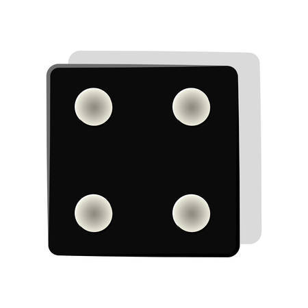 stake: black dice cube icon over white background. gambling games design. vector illustration Illustration
