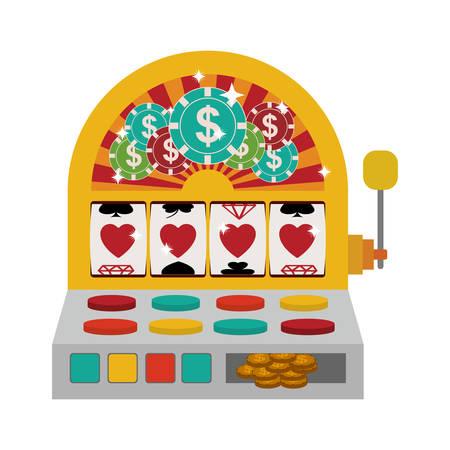 jackpot slot machine over white background. casino gambling games design. vector illustration Vektoros illusztráció