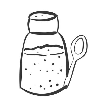SHAKER: salt shaker bottle sodium food ingredient salty vector illustration Illustration