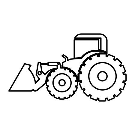 excavator heavy machinery pictogram icon image vector illustration design