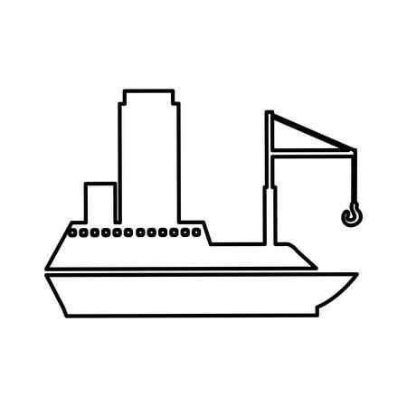 cargo ship icon pictogram image vector illustration design Illustration