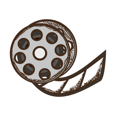 film tape reel icon image vector illustration design