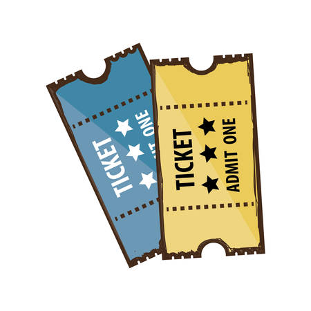 admit: tickets admit one icon image vector illustration design