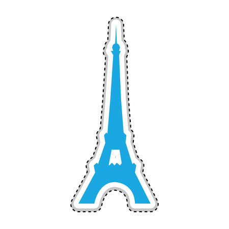 eiffel tower icon image vector illustration design