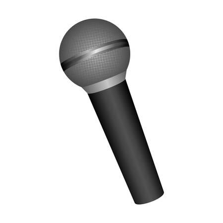 single microphone icon image vector illustration design Illustration