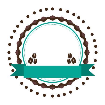 coffee emblem  icon image vector illustration design