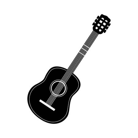 wood staves: acoustic guitar icon image vector illustration design