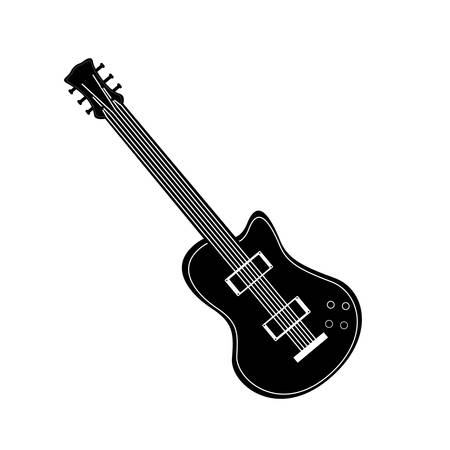 wood staves: electric guitar icon image vector illustration design