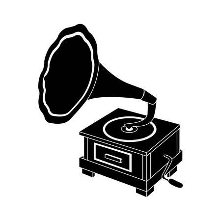 restored: gramophone vintage icon image vector illustration design