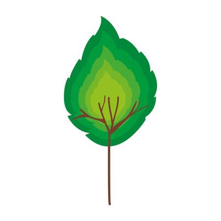 vegetate: simple leaf icon image vector illustration design