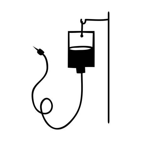 iv bolsa de icono de la imagen ilustración vectorial de diseño