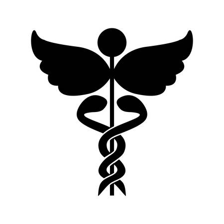 staff of aesculapius: asclepius rod icon image vector illustration design