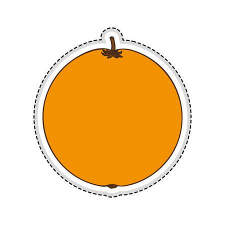 market gardening: orange fruit icon image vector illustration design