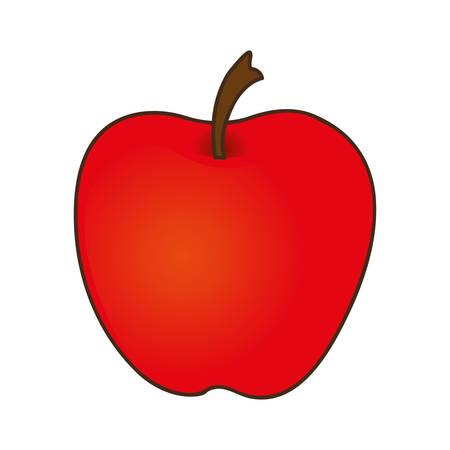 market gardening: apple fruit icon image vector illustration design