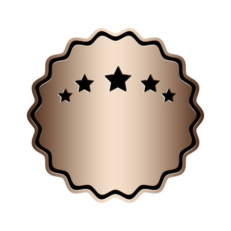 ombre: luxury ombre emblem or label icon image vector illustration design