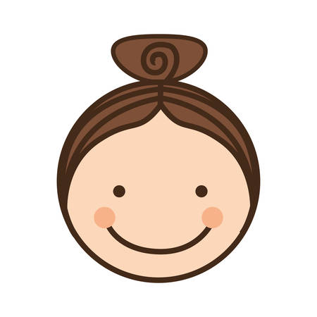 encouraging: girl happy child face icon image vector illustration design