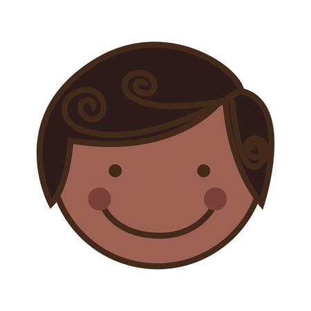 encouraging: boy happy child face icon image vector illustration design