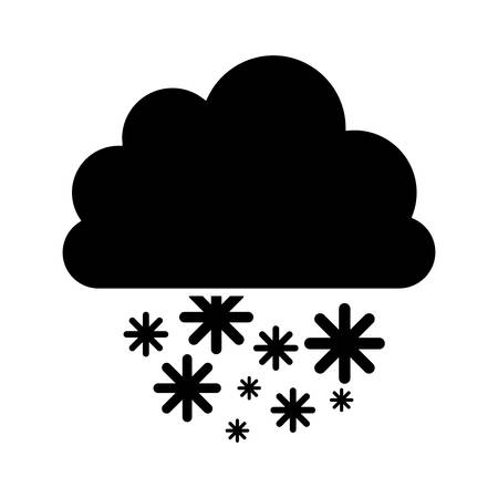 snowy hill: cloud with snow icon image vector illustration design