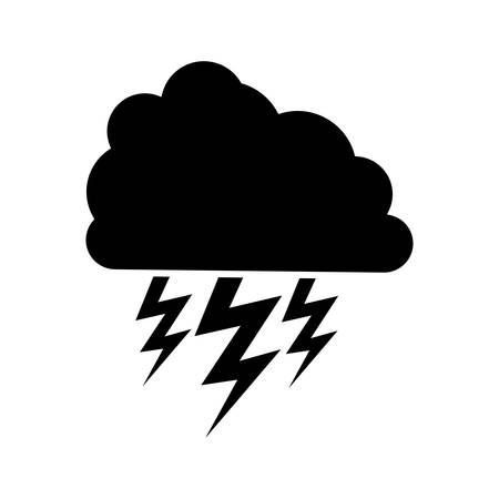 lightening: cloud with storm icon image vector illustration design