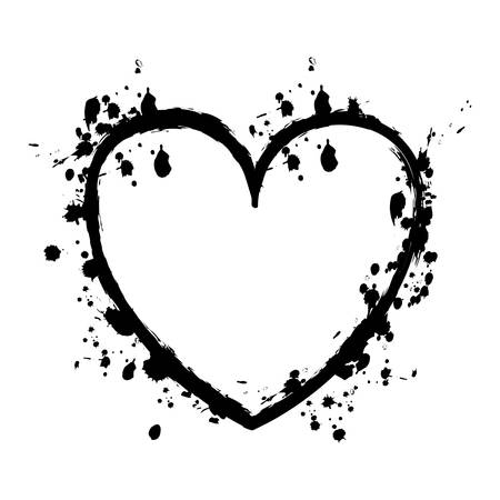 grunge heart: grunge heart cartoon icon image vector illustration design