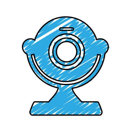 webcam: computer webcam icon image vector illustration design Illustration