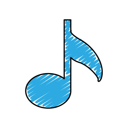 music note icon image vector illustration design