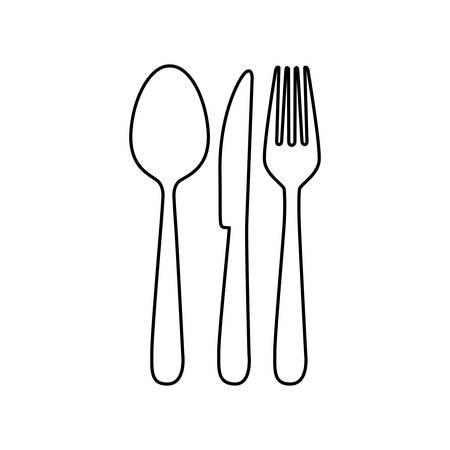 dine: cutlery icon image simple vector illustration design Illustration