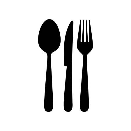 image bestekpictogram eenvoudige vectorillustratieontwerp