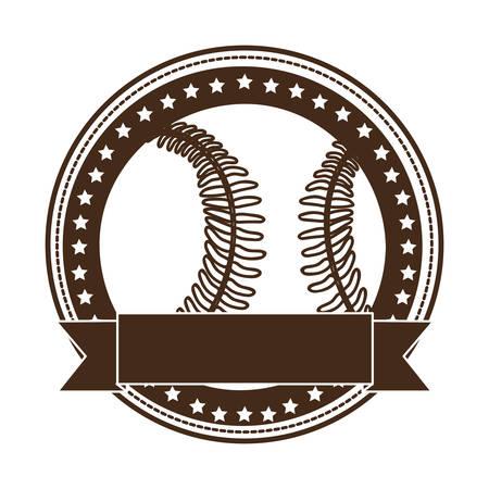 fast pitch: sober baseball emblem or label icon image vector illustration design