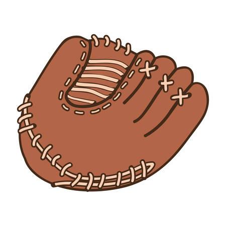 baseball mitt icon image vector illustration design Illustration