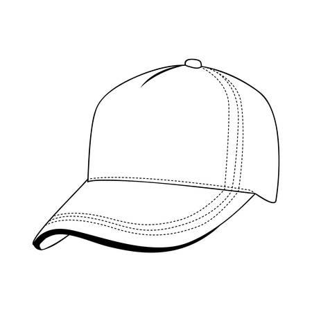fast pitch: baseball cap icon image vector illustration design