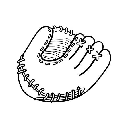 mitt: baseball mitt icon image vector illustration design Illustration