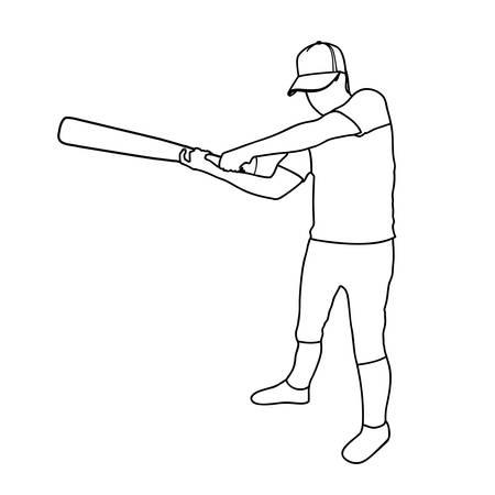 fast pitch: baseball player icon image vector illustration design Illustration
