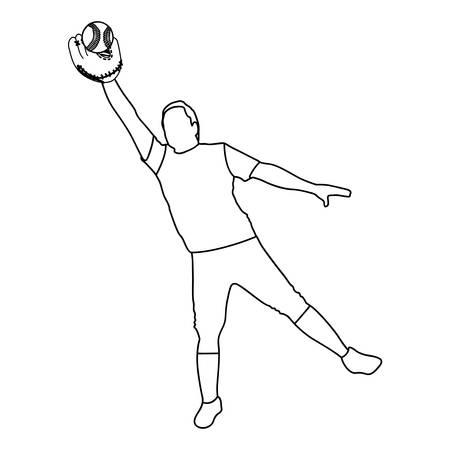 baseball player icon image vector illustration design Illustration