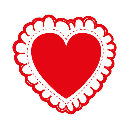 embellished heart cartoon icon image vector illustration design