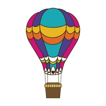 cloud drift: hot air balloon icon image vector illustration design