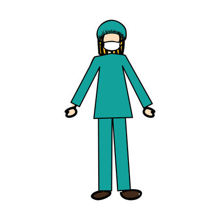 medical doctor cartoon icon image vector illustration design Illustration